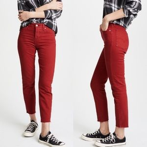 Wedgie Red Levi's High Rise Ankle Jeans 25
